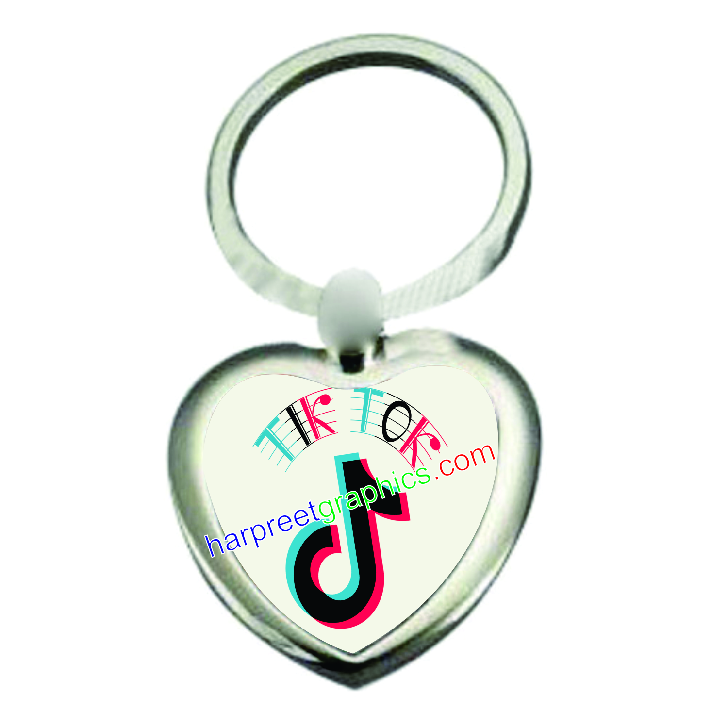 SUBLIMATION METAL KEYRINGS - HEART SHAPE