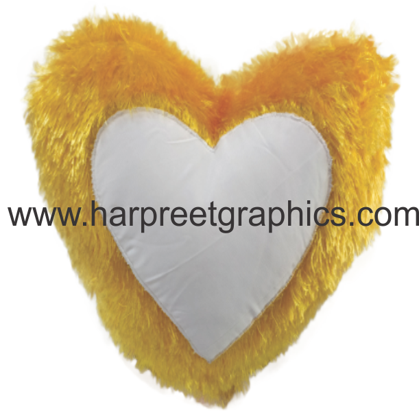 HEART SHAPE DOUBLE FUR CUSHION (16