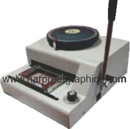 PVC CARD EMBOOSSING MACHINE