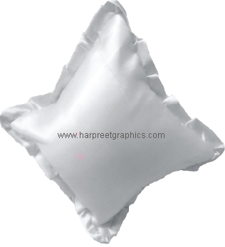 SATIN FRILL CUSHION (16