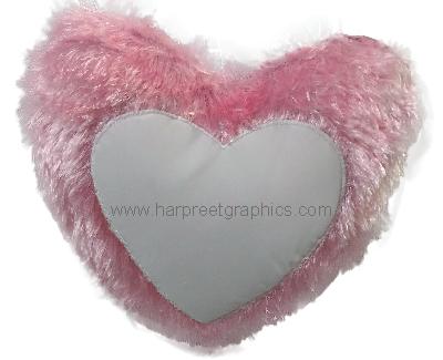 HEART SHAPE DOUBLE FUR CUSHION (16